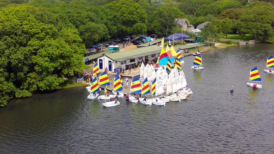 Optimists at Salterns Sailing Club