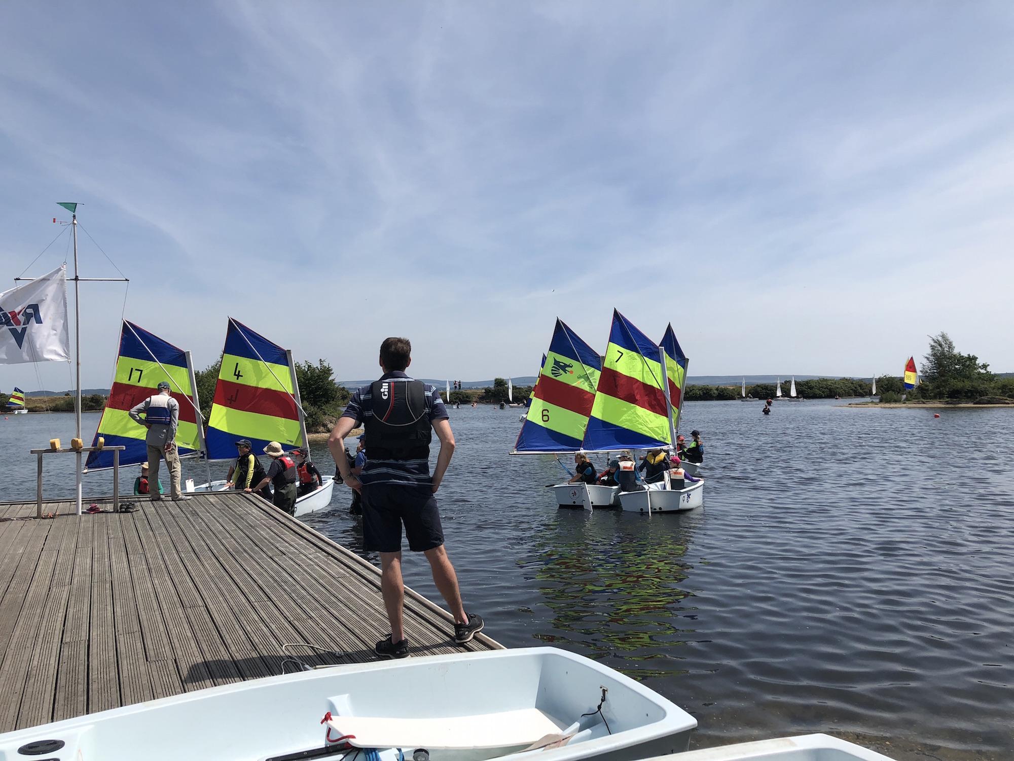 Sailing at Salterns Sailing Club