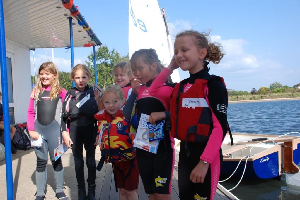 Young sailors at Salterns Sailing Club