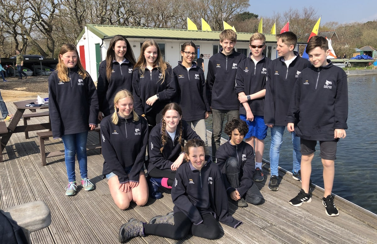 Members of the 2019 Junior Committee at Salterns Sailing Club