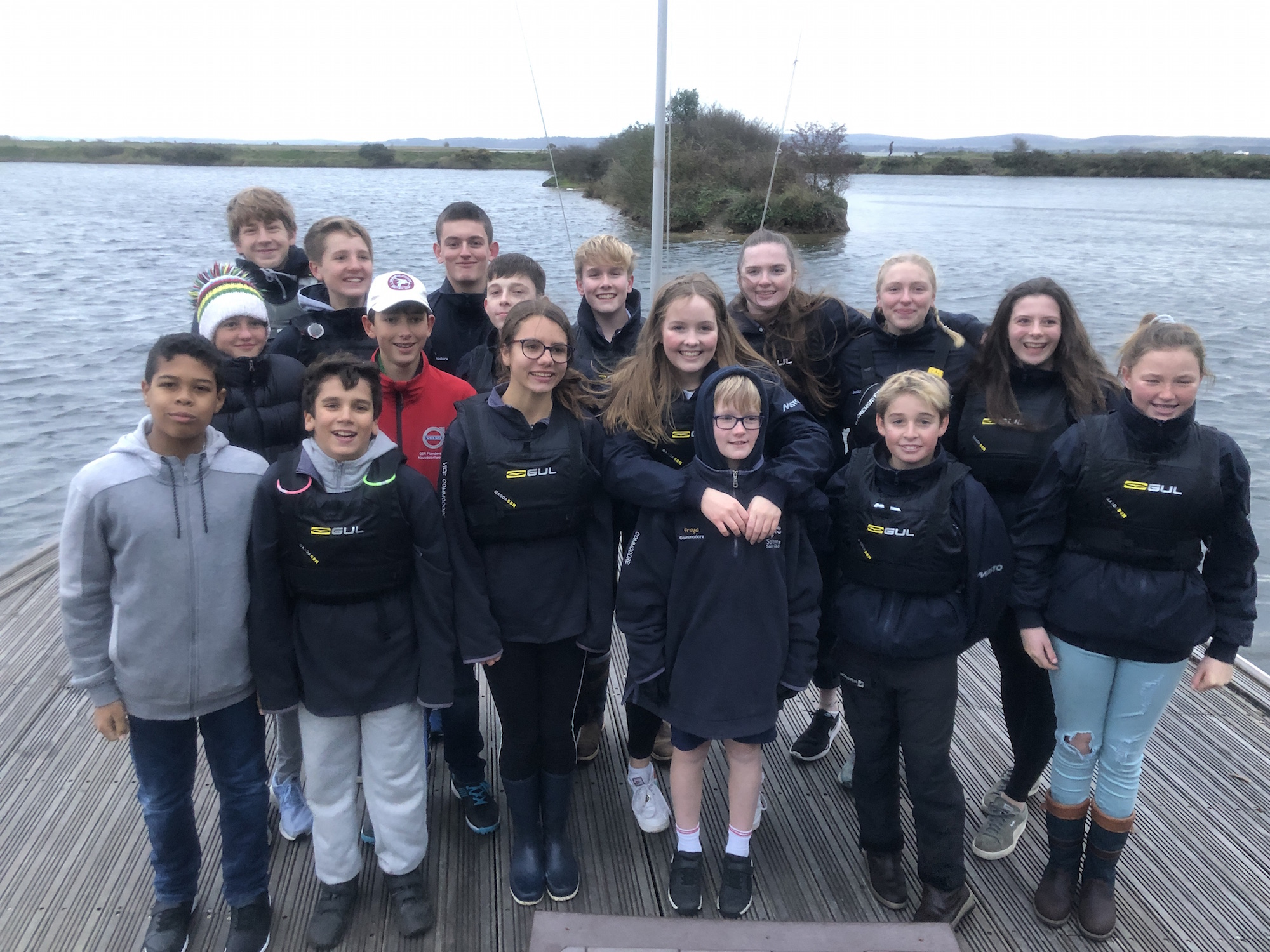 Members of the 2020 Junior Committee at Salterns Sailing Club