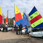 Clean up day at Salterns Sailing Club at the start of each season