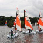RS Teras sailing at Salterns Sailing Club